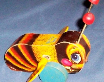 Fisher-Price Toy 325 Buzzy Bee 1st version 1950