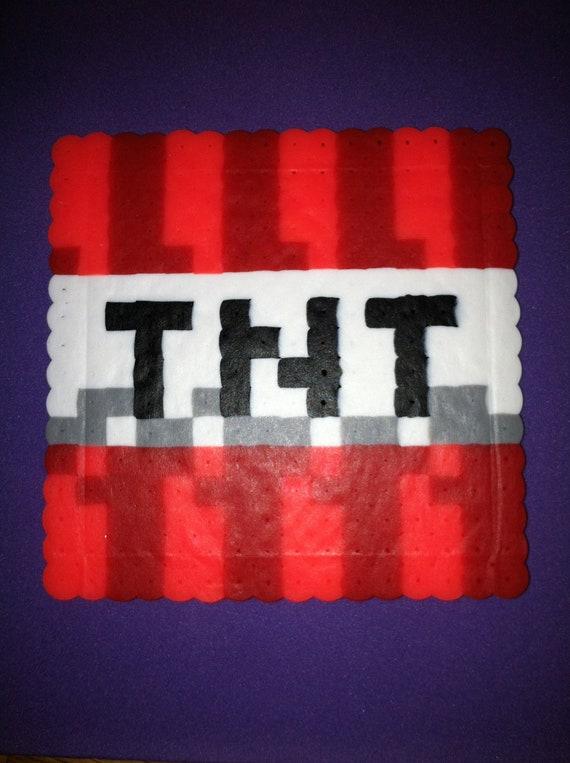 Items Similar To Perler Bead Minecraft Tnt Drink Coaster