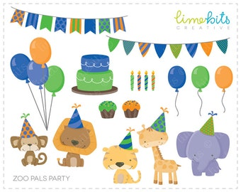 Zoo Pals Party Blue/Green