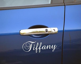 Personal Name Vinyl Decal  X2