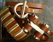 Three's Company leather bracelet set...3 of our most popular bracelets perfect for layering