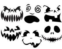 Unique Vinyl Pumpkin Faces Related Items Etsy