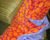 Giraffe Safari & Lilac Tie-die Blanket