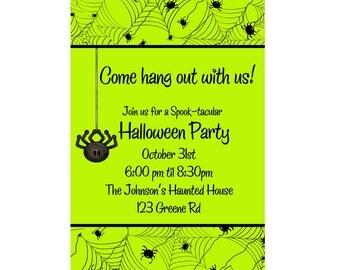 Printable Halloween Party Invitation 2, Halloween Party, Digital Halloween Invitation, Personalized Invitation