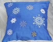 Winter Snowflakes Pillow Cover