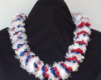 Patriotic Crochet Lei