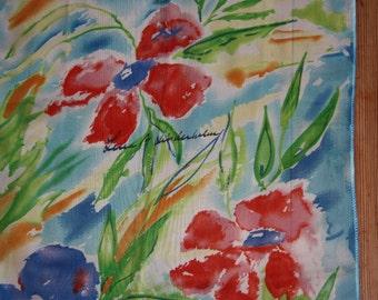 Lovely floral scarf design Lena Lindholm, Sweden