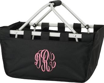Personalized Market Basket Black Monogrammed Gift