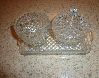 Vintage Wexford Tray with Sugar/Creamer