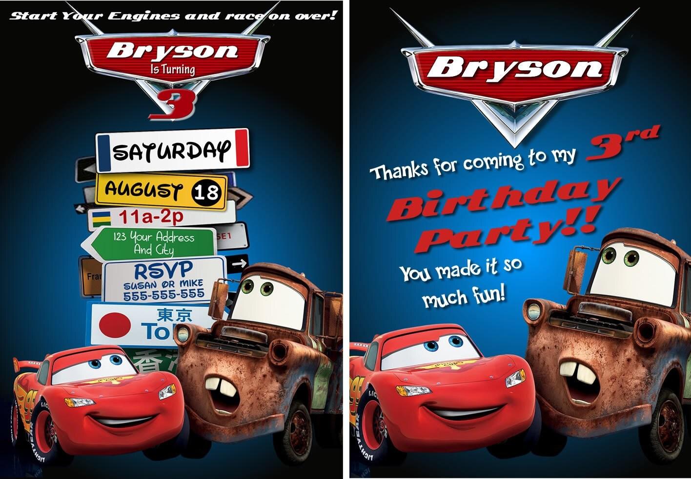 Disney Cars Birthday Invitation Templates Disney Cars Party Invitations