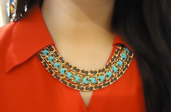 Mikaylove Original Design in Turquoise & Grey