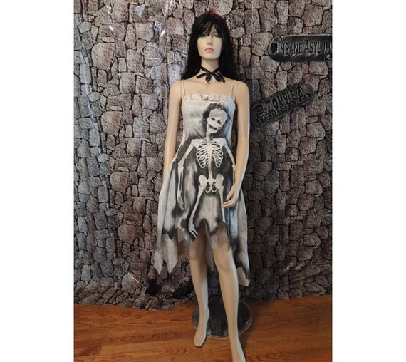 Tattered Vintage Zombie Prom Queen Dress