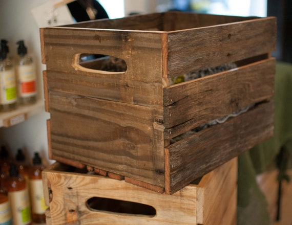 wine crate wood crate made of reclaimed wood. Black Bedroom Furniture Sets. Home Design Ideas