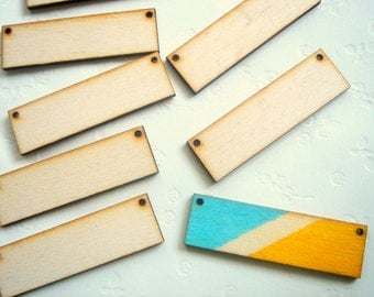 Unfinished Geometric Tile Pendants, 10 Wood Geometric Tile for Jewelry,Geometric Jewelry,Wood Pendants 4mm,