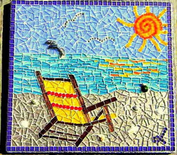 Items Similar To Beach Chair Mosaic Art On Etsy