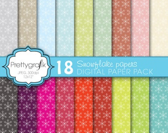 80% 0FF SALE christmas snowflake digital paper, commercial use, scrapbook papers, background - PS577