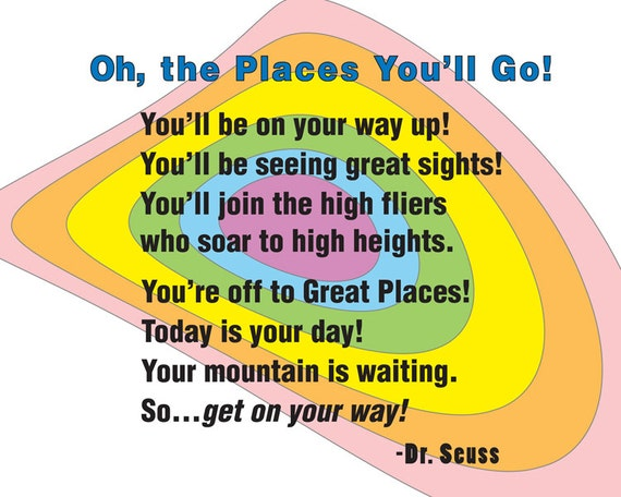 Oh The Places You Ll Go Nursery Art By Sweetlemonart On Etsy