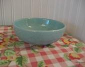 McCoy Pottery Bowl- Speckled Robin Egg Blue- Vintage Kitchen