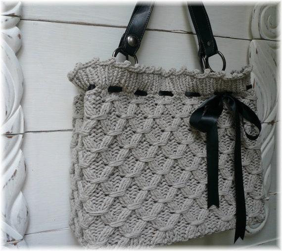Yummy textured hand knit bag