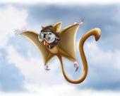 Flying Squirrel A5 Print