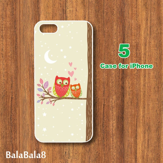 iPhone  4 case,iphone 5 Case--Cute Owl, in durable plastic or rubber silicone case
