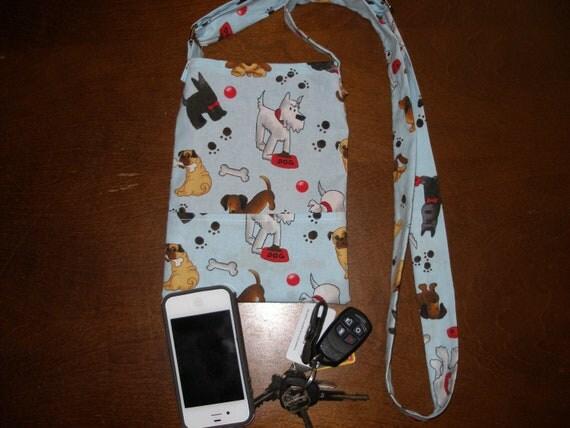 Blue Paw Print Cross Body Dog Walking Bag by ...  Dog Walking Bag Cross Body