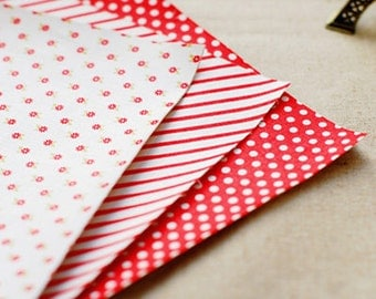 Red Ribbon Fabric Stickers