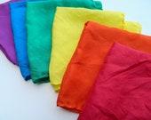 READY TO SHIP Waldorf Montessori Rainbow Playsilks 30 x 30 imaginative play