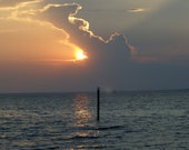 Sunset Over Gulf-1, Landscape 11x14 Print on Aluminum, , Army Veteran, Limited Edition