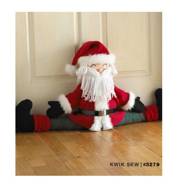 Kwik Sew 3279 Snowman And Santa Draft Stoppers Sewing Pattern