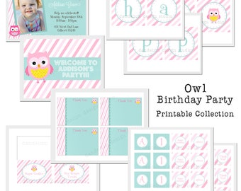 PRINTABLE Full Collection - Owl Party Collection - Dandelion Design Studio