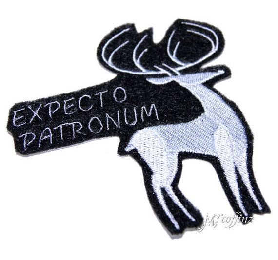 Harry Potter Expecto Patronum Magic Stag Iron On Embroidery Patch MTCoffinz