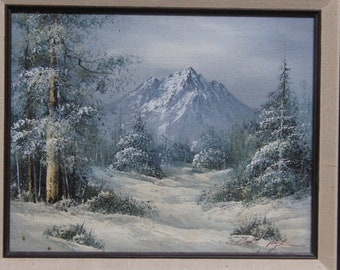 1980's original oil painting on canvas signed by the artist.