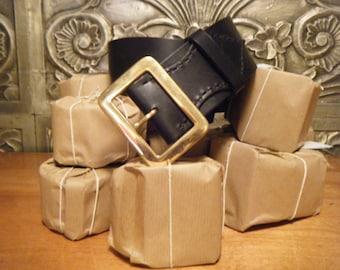 Handmade black or Brown Leather Kilt Belt