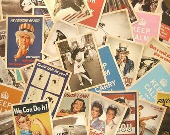 Crazy Sale Vintage Poster Postcard Set B - 32 Cards