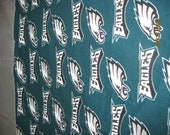 Single Standard Size Pillow Case OOAK Philadelphia Eagles 100% Cotton