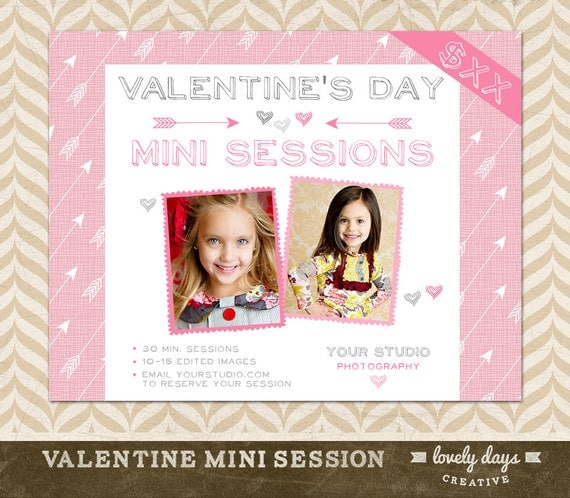 Valentine's Day Mini Session Template By LovelyDaysCreative