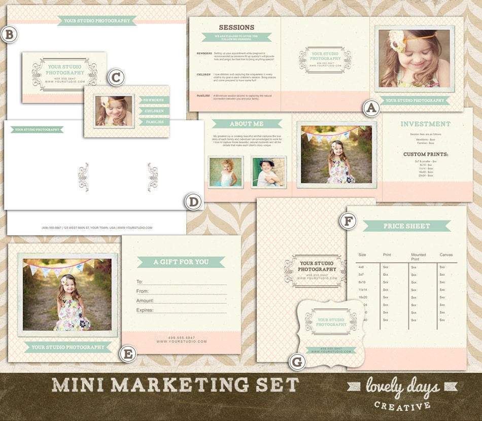 etsy policies template - items similar to photography marketing template pre made