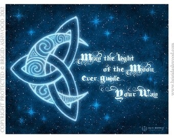 Celtic MoonWay -  Pagan Wiccan Print - Brigid Ashwood