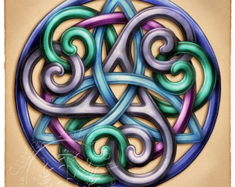 Celtic Grace Knotwork  -  Pagan Wiccan Print - Brigid Ashwood