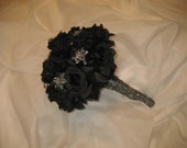 Black Wedding Bouquet/ Gothic Wedding