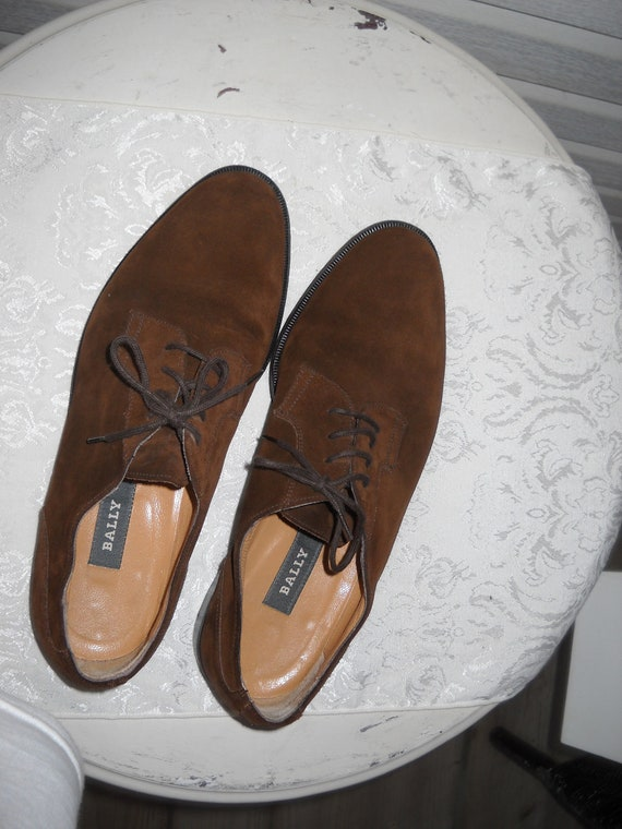 Vintage Bally Brown Suede Mens Shoes Romeo Size 8 1 2 D