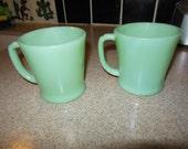 Set of 2 Jadeite (Jadite) Mugs