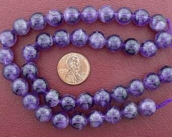 10mm round gemstone amethyst beads