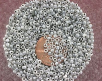 20 gram lot silver 11  seed beads