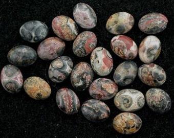 6 - 8x6 oval leopardskin jasper cabochon gem gemstone