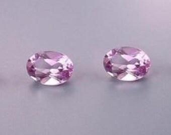 four - 7x5 oval amethyst gem stone gemstone 7mm x 5mm