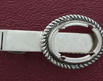 one 18x13 antique silver plated tie clip mounting