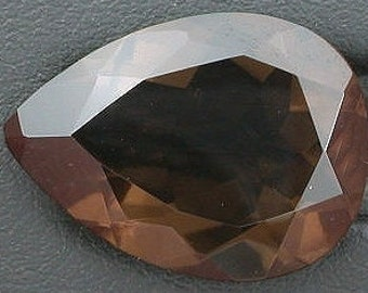 18mm x 13mm pear rich colored chocolate smoky quartz