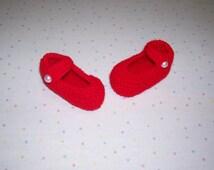 Valentine Booties  ~ Red Baby Booties  ~ Booties ~ Baby shoes ~  Red Baby Shoes ~ Baby Girl Booties ~ Baby Clothing ~ Baby Socks